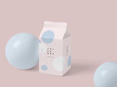 Juice/Milk Packaging Box Mockups