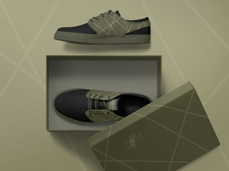 Shoes and Shoebox Mockups Set