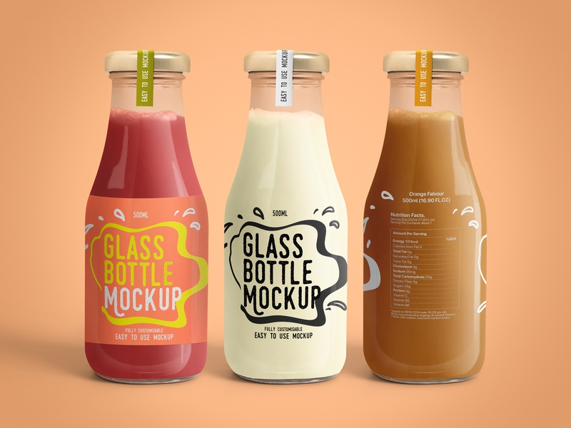 Glass Bottle Mockups Set