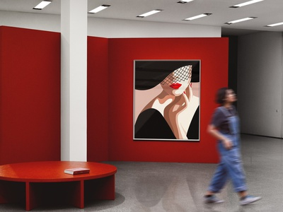 Art Gallery MockUp / Poster showcase gallery frames canvas print template printing design branding mockups mock-up mockup template design templates posters poster art poster design template poster art gallery mockup art gallery