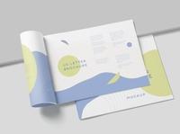 US Letter Landscape Brochure Mockups
