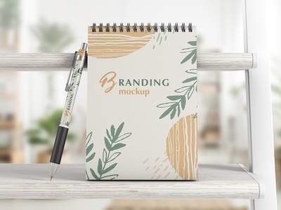 Notebook With Pen Branding Mockup print psd mockup set template mock-up pencil drawing design branding mockups notebook mockups notebook templates notebook template pencil notebook design notebooks mockup pen mockup pen notebook mockup notebook