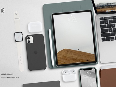 Apple Devices Scene Creator branding brand sport watches macbook clay minimal mockup devices device case air pods apple pencil apple watch apple design devices scene creator scene creator apple device scene apple devices apple device