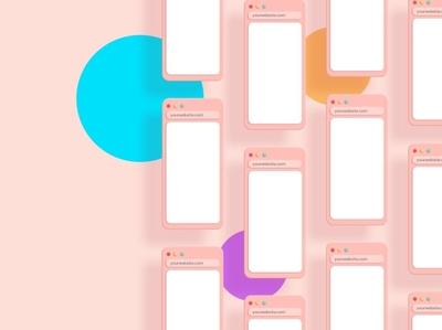 Simple 3D Browser Mockup professional design color simple illustration template branding mockups mock-up simple design user interface ux ui responsive multipurpose web design website mockup minimal browser simple