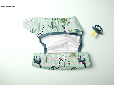 Reusable Cloth Diaper Mockup Set elements baby pacifier baby design template branding mockups mock-up clothing design clothes pattern printing print clothing diaper mockups diaper mockup mockup cloth diaper cloth reusable