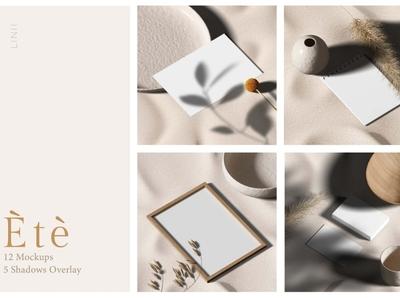 Ètè Mockups professional cards postcards card simple product scene creator printing print psd mockup set design branding mock-up minimalism template minimalist mockups mockup minimal