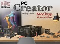 PC Creator 5K - Desktop Edition macbook imac samsung galaxy iphone mockup scene generator scene creator dell desktop mockup motherboard frames pc builder pc build branding mockups mock-up mockup 5k pc creator desktop edition desktop