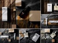 Cosmetics Mockups - Real Scenes black minimal cosmetics logo handcream box product design product lotion mockup set design template branding mockups mock-up mockup print package cosmetic mockup cosmetics cosmetic