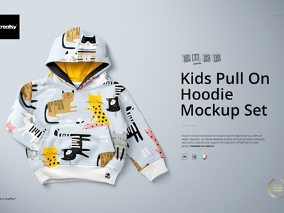 Kids Pull On Hoodie Mockup Set kids illustration patterns fabric print design printing print psd mockup set template design mockups mock-up mockup hoodie template hoodie mockup template hoodie mockups hoodie mockup hoodie kids pull on kids