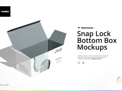 Snap Lock Bottom Box Mockup Set modern simple professional mockup set template design branding mockups mock-up mockup packaging package box mock-up box mockup set box mockups box mockup box bottom lock snap