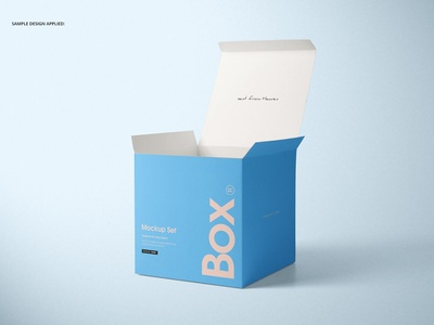 Matte Gift Square Box Mockup Set promotions advertising psd template psd design branding mockups mock-up mockup boxing packaging package gift square box gift box gift box mockup set box mockups box mockup square box box