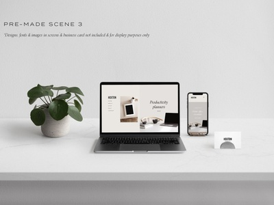 Desktop & Multi Device Scene Creator scene pre-made mockup set template branding mockups mock-up mockup design workspace minimalist minimal multi device mockup multi devices device mockups device mockup devices scene creator multi device desktop