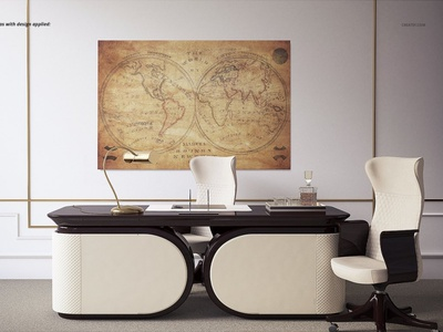 Luxury Office Canvas Prints Mockup mockups mock-up mockup canvas art interior mockup interior design interior wall floor 3d art 3d design luxury office mockup luxury office luxury canvas print office mockups office mockup office canvas