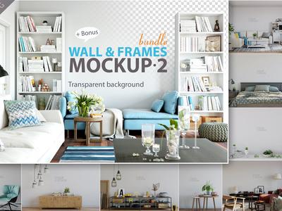 Wall & Frames Mockup - Bundle Vol. 2