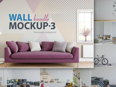 Wall Mockup - Bundle Vol. 3