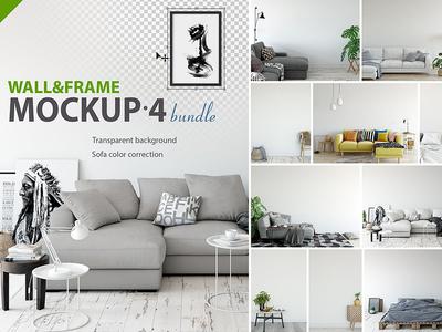 Wall & Frames Mockup - Bundle Vol 4
