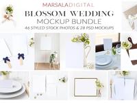 Blossom Wedding Mockup Bundle