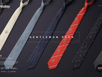 Gentelman Pack v.1: Tie Mockup Set