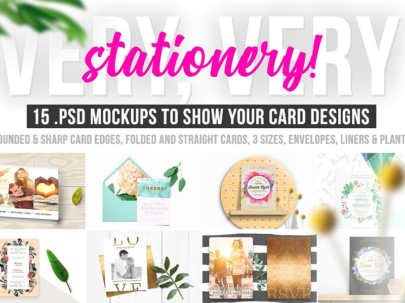 Very Very Stationery Card Mockups By Mockup5 On Dribbble