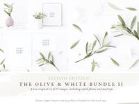 NEW Olive & White Mock up Bundle II