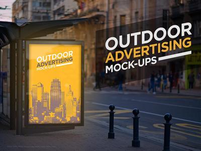 Outdoor Advertising Mock-Up print presentation poster template outdoor poster mockup poster city billboard mockup billboard outdoor advertising mock-up advertising mock-up advertising