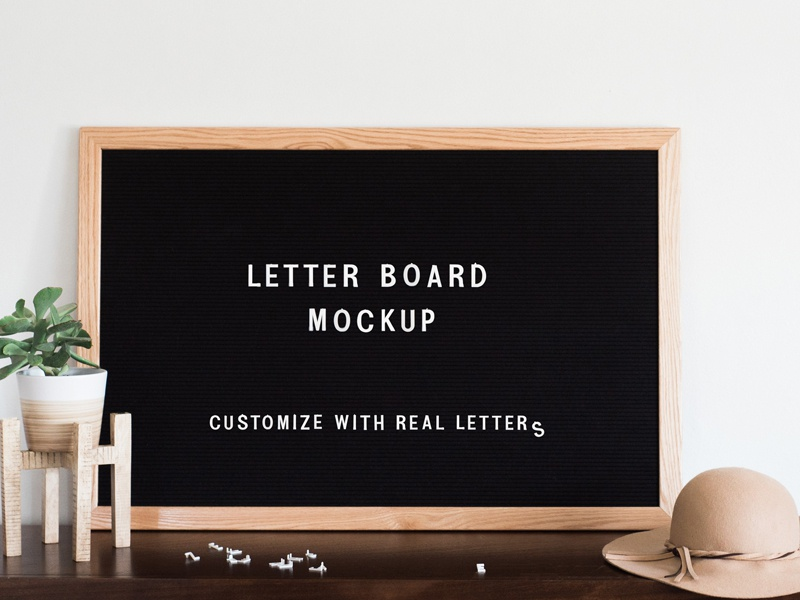 Felt Letter Board Mockup Psd By Mockup5 On Dribbble