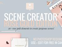 RoseGold Tech Mockups+Scene Creator