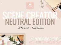 Neutral Tech Mockups + Scene Creator