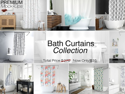 Bath Curtains Designs Themes Templates And Downloadable Graphic Elements On Dribbble