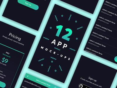 Minimal Mobile App Mock-ups