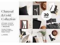 Charcoal & Gold Stock Photo Bundle