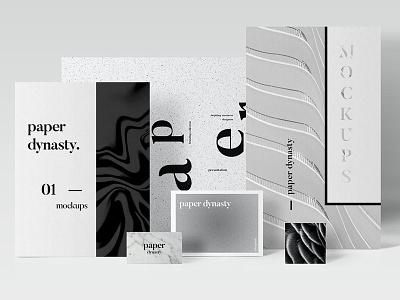 Paper Dynasty-Branding Mockups clean stationary mockups business card branding mockups business card mockup paper mockups mockups branding