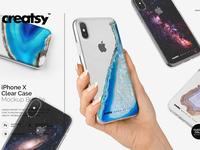 iPhone X Clear Case Mockup Bundle