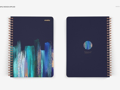 Notebook Mockup Set (square holes)