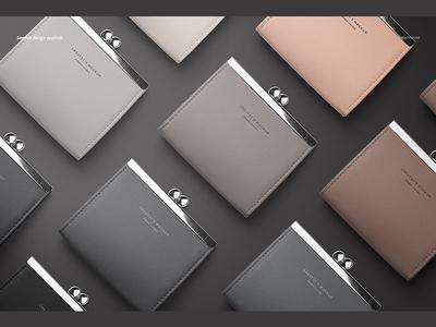Leather Wallet Purse Mockup Set