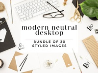 Modern Neutral Desktop Bundle