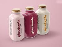 Glass Bottle Mockup Set v.1