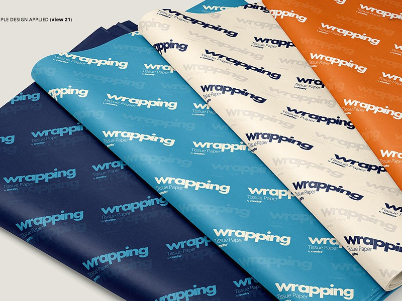 Wrapping Tissue Paper Mockup Set By Mockup5 On Dribbble