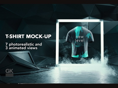 Man T-shirt Mock-up / Animated shots
