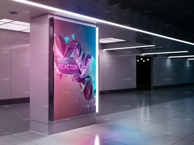 Billboard Mockup - Ad Station Series poster print photorealistic gif billboard mock-up animation mock-up animation animated billboard mockup advertising ad