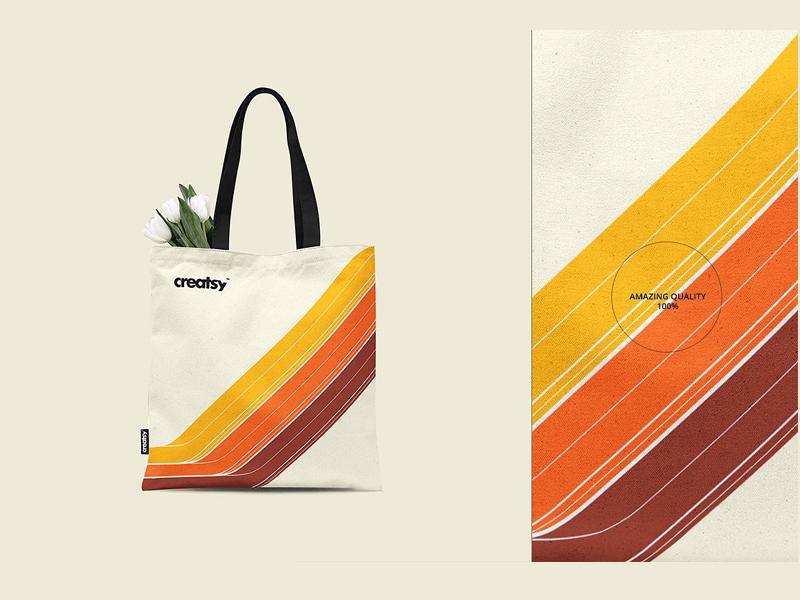 Tote Bag 2 Mockup Mockups Design Template Print Back
