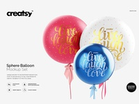 Sphere Balloon Mockup Set