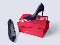 Shoe Box Mockup Set