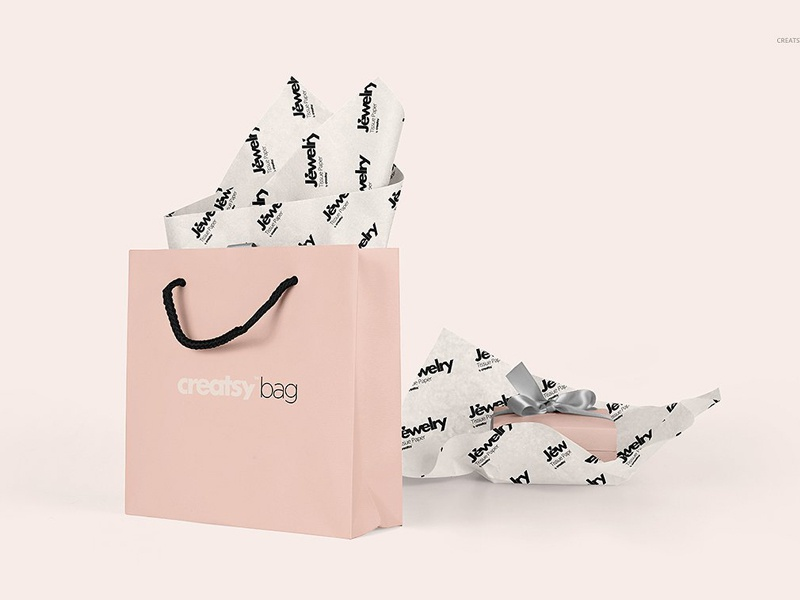 Jewelry Wrapping Tissue Paper Mockup By Mockup5 On Dribbble