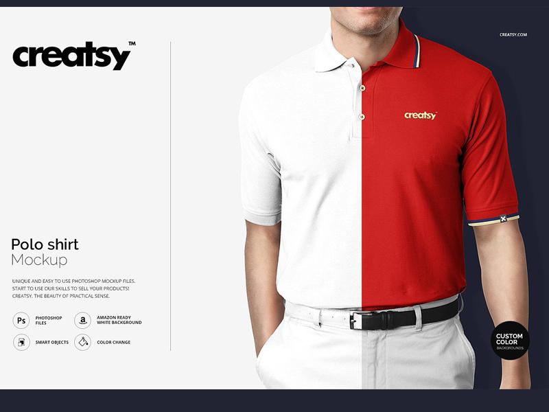 5feed627 Polo Shirt Mockup golf t-shirt psd printing design print template branding  mockups mock-