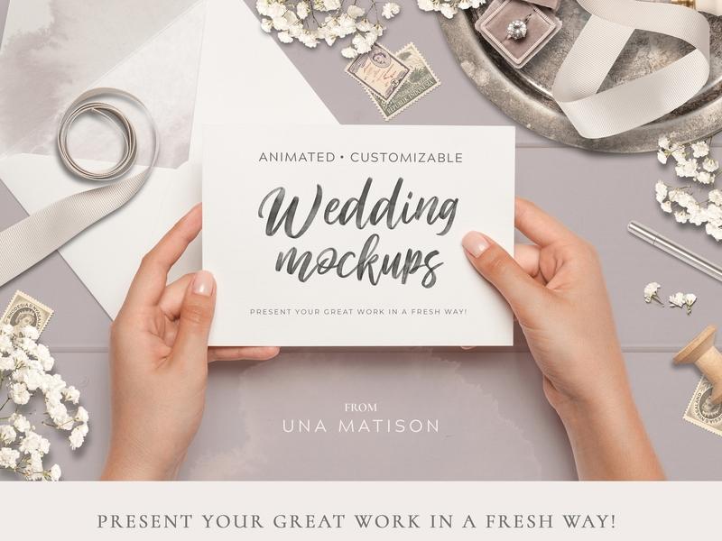 Animated Custom Wedding Mockups By Mockup5 Dribbble Dribbble