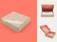 Mailing Box 3 Mockup Set