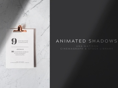 Animated shadows overlays + Bonus