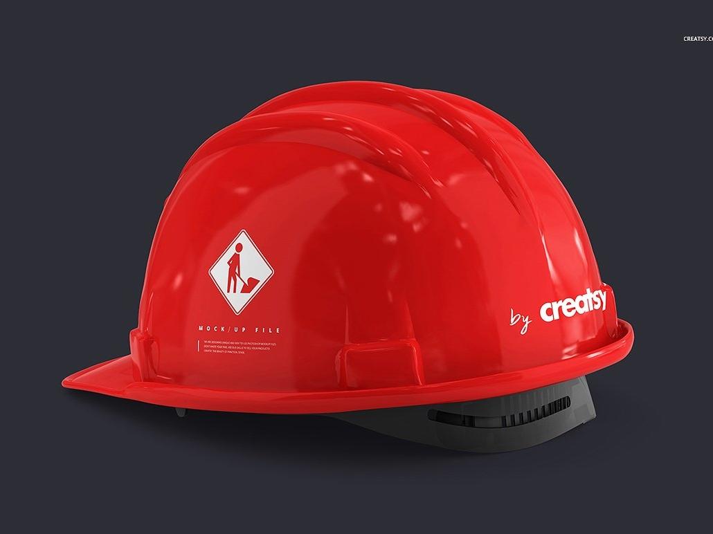 6d7a6736e4b Hard Hat Mockup Set by Mockup5