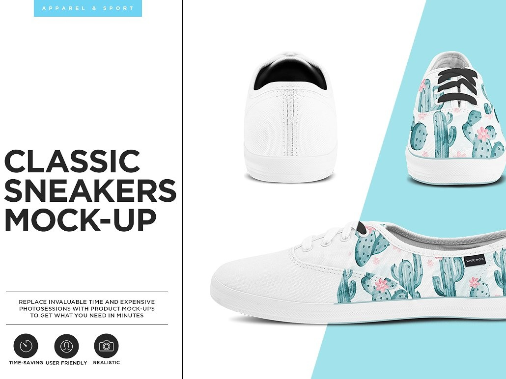 Classic Sneakers Mock up by Mockup5 on Dribbble